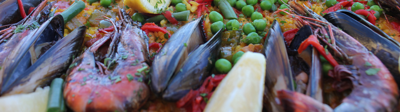 Seafood paella in Central Coast