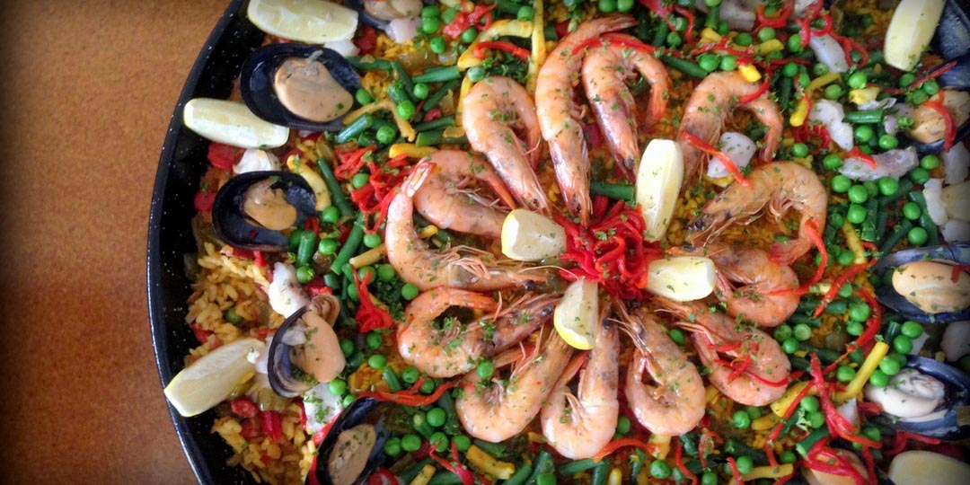 Paella Seafood, the traditional paella