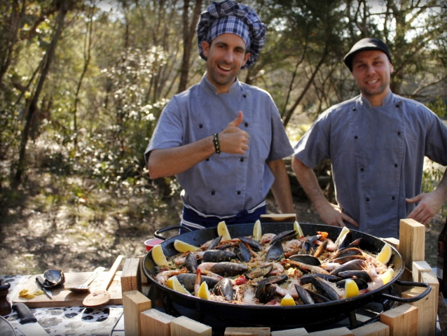 Paella chefs cooking