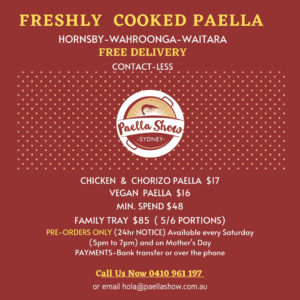 Paella delivery to your door